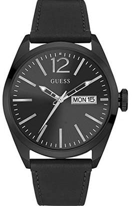 GUESS Men's Analogue Quartz Watch with Leather Strap W0658G4