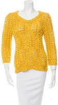 Oscar de la Renta Sequined Silk Sweater