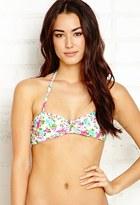 Forever 21 FOREVER 21+ Garden Goddess Bandeau Bikini Top