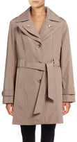 Calvin Klein Belted Double-Lapel Trench Coat