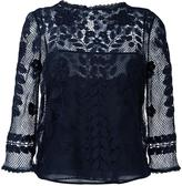 RED Valentino embroidered mesh blouse