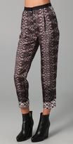 Cobweb Lace Print Pants