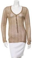 Dolce & Gabbana Open Knit Metallic Top