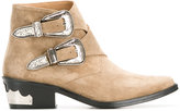 Toga Pulla double buckle boots - women - Leather/Suede - 36