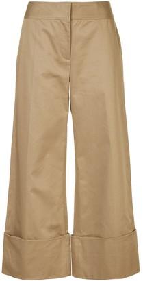 Monse Cotton Gabardine Wide-Leg Trousers