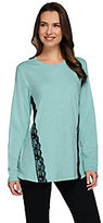 Denim & Co. As Is Studio By Long Sleeve Top with Lace Detail
