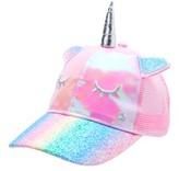Limited Too Baseball Hat: Pink Unicorn