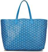 Goyard Blue Goyardine Canvas Saint-Louis PM