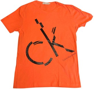 Calvin Klein Orange Cotton T-shirts