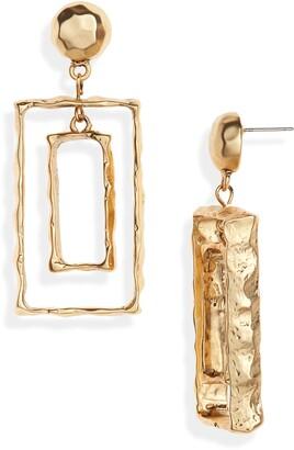 Karine Sultan Rectangular Frame Drop Earrings