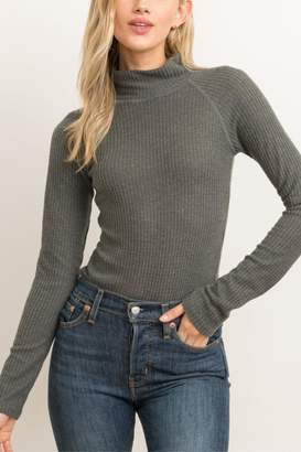 Hem & Thread Ribbed Turtleneck Bodysuit