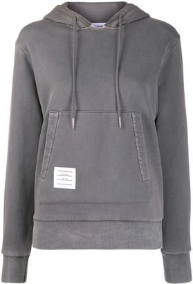 Thom Browne Relaxed Logo-Patch Hoodie
