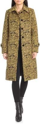 AVEC LES FILLES Leopard Print Long Coat