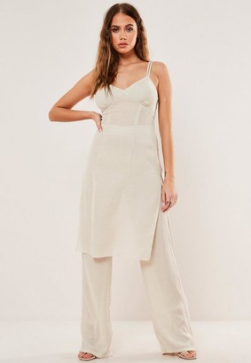 Missguided Co Ord Crinkle Tunic Top