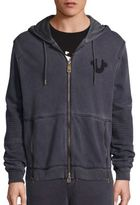 True Religion Moto Ribbed Panel Hoodie