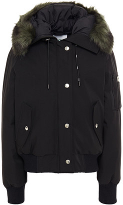 Kenzo Faux Fur-trimmed Shell Hooded Down Jacket