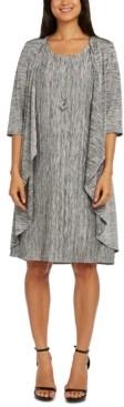 R & M Richards Printed Jacket & Necklace Sheath Dress