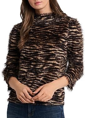 Vince Camuto Eyelash Zebra Sweater