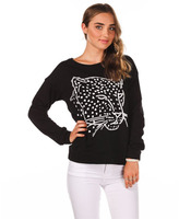 City Beach Just Add Sugar Panther Pullover Sweatshirt