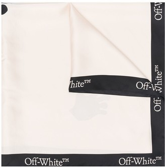 Off-White Logo-Print Silk Scarf