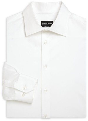 Giorgio Armani Button-Front Cotton Dress Shirt