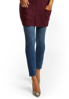 New York & Co. Feel Good High-Waisted No Gap Pull- On Super Skinny Jeans - Brilliant Blue