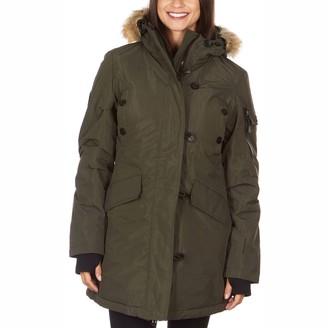 Avalanche Women's Faux-Fur Hood Sherpa-Lined Parka Jacket
