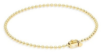 Maria Canale Flapper 18K Yellow Gold & Diamond Single Strand Ball Chain Bracelet