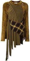 3.1 Phillip Lim asymmetric intarsia jumper - women - Nylon/Viscose/Wool - M