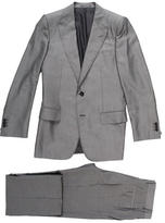 Saint Laurent Textured Peak Lapel Suit