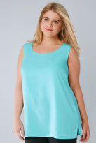 Yours Clothing Aqua Blue Sleeveless Top