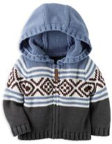 Carter's Fair Isle Hooded Cardigan in Blue