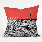 DENY Designs Bird Ave Athens Throw Pillow, 16-Inch by 16-Inch