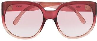 Fendi Eyewear Oversize-Frame Gradient-Lens Sunglasses