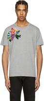 Valentino Grey Flower & Butterfly T-Shirt