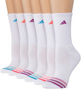 adidas 6 Pair Crew Socks - Womens