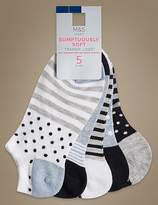 Marks and Spencer 5 Pair Pack Sumptuously Soft Trainer Liner Socks
