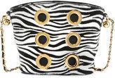 Marc Jacobs The Six Zebra Grommet Crossbody Bag, White/Black