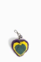 Paul & Joe Mink Fur Heart Key Ring