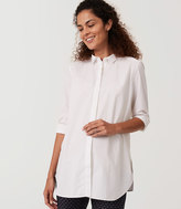 LOFT Maternity Swingy Tunic Softened Shirt