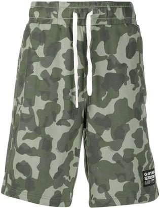 G Star Brush Camouflage Track Shorts