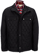 Rainforest Diamond-Quilted Bomber Jacket