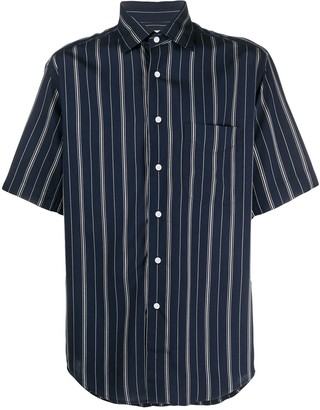 Sandro Paris Striped Short-Sleeve Shirt