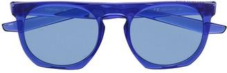 Nike Blue-Tinted Round Sunglasses