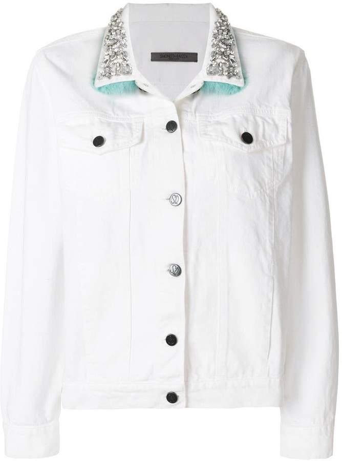Simonetta Ravizza crystal embellished denim jacket