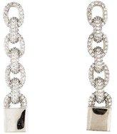 Eddie Borgo Pavé Crystal Chain Earrings