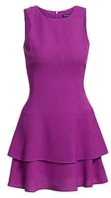 Black Halo Women's Cheryl Mini Ruffle Dress