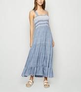 New Look Spot Shirred Midi Dress