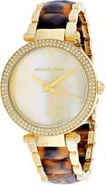 Michael Kors Mother-of-Pearl & Goldtone Parker Watch