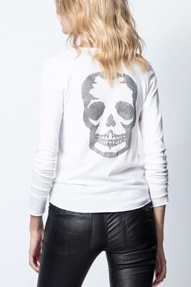Zadig & Voltaire Tunisien Camo Strass Skull T-Shirt